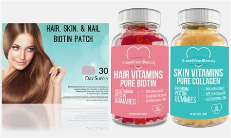 hair and nail supplement vitapatch hair skin and nails supplement set 3 pack