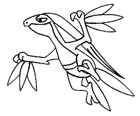 Pokemon Coloring Pages Grovyle | coloring pages pokemon grovyle drawings pokemon