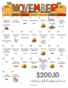 thanksgiving dinner grocery list 30 days of kid friendly dinners with free printable weekly