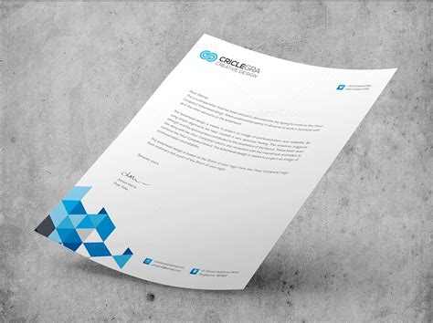 letterhead design template psd corporate psd letterhead templates 000027