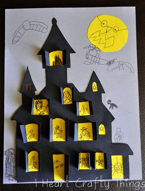 printable haunted house craft haunted house craft i heart crafty things