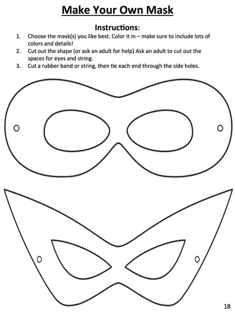 make your own mask template this template to design your own mask