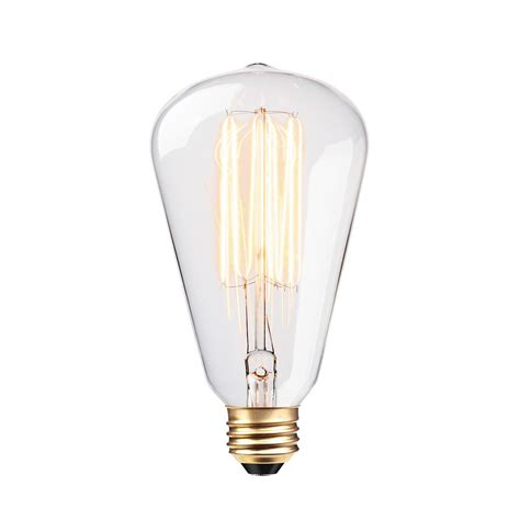 incandescent light bulb globe electric 60 watt vintage edison s type incandescent