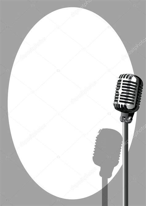 Cartaz de microfone de evento musical — Vetores de Stock