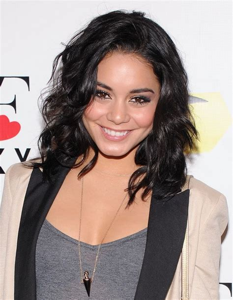 vanessa hudgens medium hairstyles wavy hairstyle with
