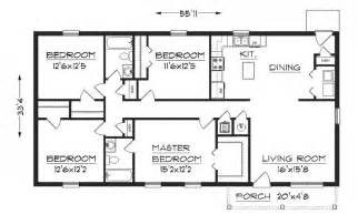 House Plan Dimensions Simple House Floor Plan With Dimensions