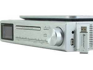 cabinet kitchen radio cd player soundmaster eliteline ur2195si cabinet bluetooth cd