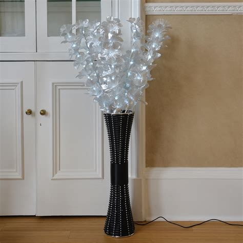 floor decorations home floor standing fibre optic l flowers indoor white