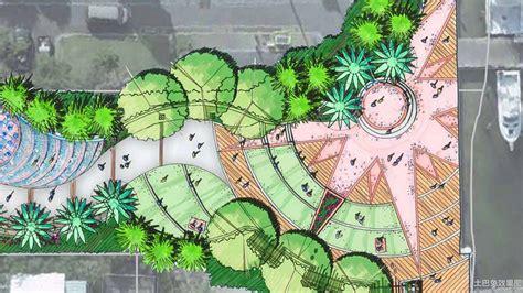 Urban Garden Design Ideas - 公园设计手绘平面图大全 土巴兔装修效果图