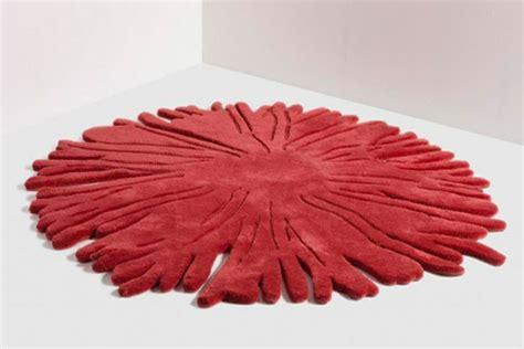 roter runder teppich teppich rund rot hochflor teppich rot rund with