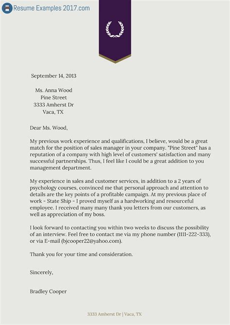 [ Sample Cover Letter For Sending Resume Via Email