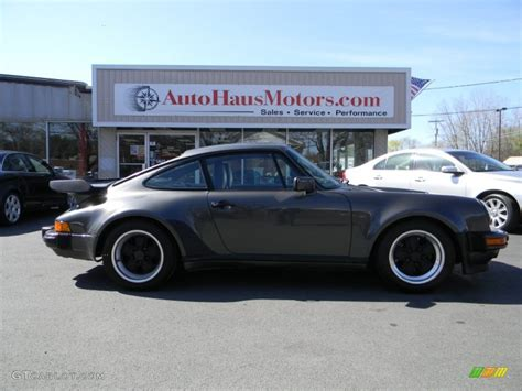 porsche slate grey metallic 1989 slate grey metallic porsche 911 turbo