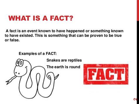 A Or Fact Or Opinion
