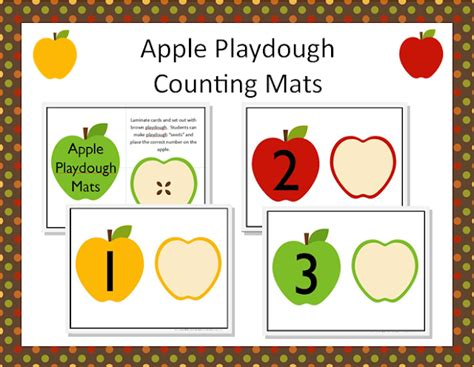 printable apple playdough mats apple math play dough mats teaching the little people