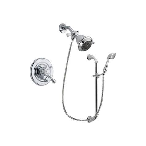 Delta Dual Shower System by Delta Leland Chrome Finish Dual Shower Faucet