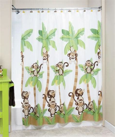 jungle monkey bathroom shower curtain bath accessories ebay