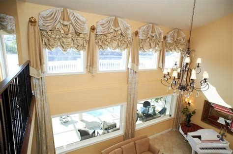 Empire Blinds motorized empire balloon shades