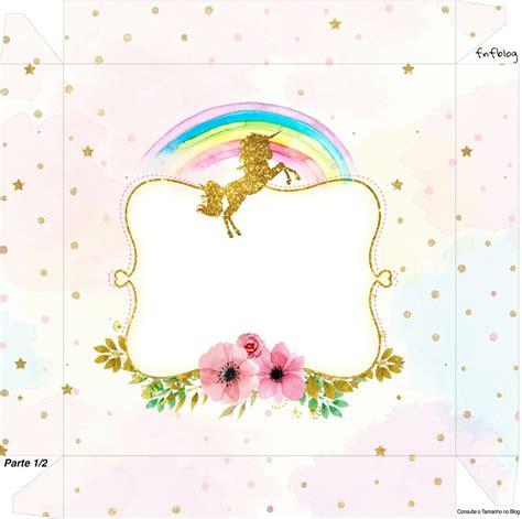 imagenes unicornios gratis fiesta de unicornios cajas para imprimir gratis
