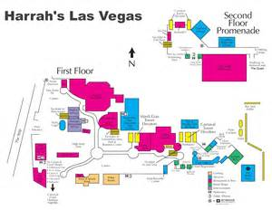 Las Vegas On The Map by Las Vegas Harrah S Hotel Map