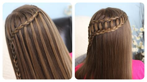tutorial kepang rambut lace feather waterfall ladder braid combo 2 in 1 hairstyles