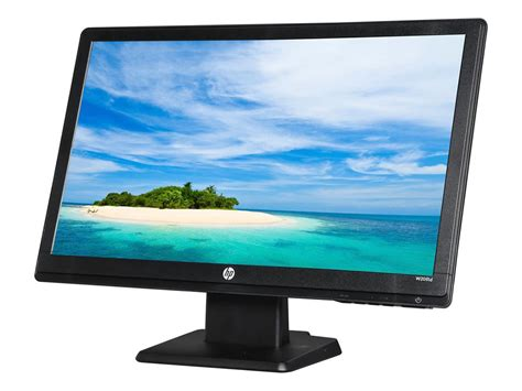 Monitor Lcd Laptop hp w2081d black 20 quot 5ms widescreen led backlight lcd monitor monoprice