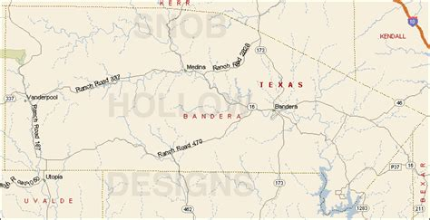 map bandera texas bandera county texas color map