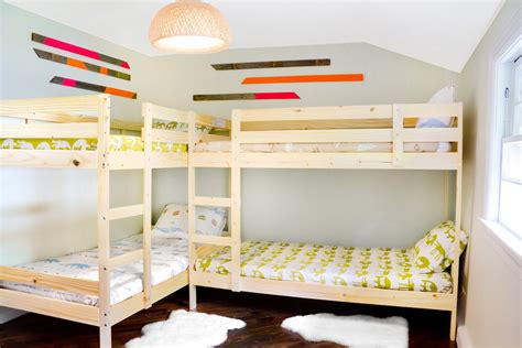 L Shaped Bunk Bed Plans Build L Shaped Bunk Bed Plan Easy Ways Atzine