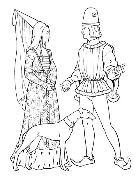 coloring page king and queen