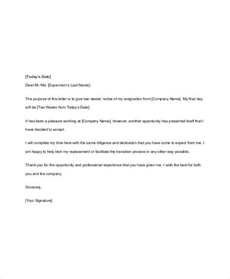 notice letter 3 highly professional two weeks notice letter templates best 25