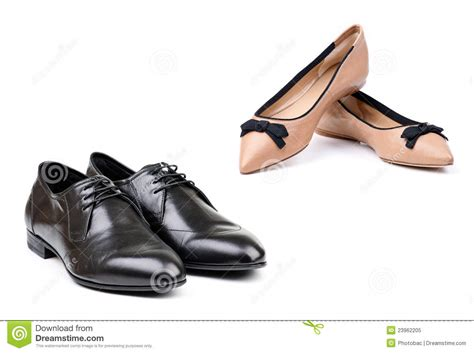 Two Pairs Of Shoes by Two Pairs Of And Shoes White Royalty Free