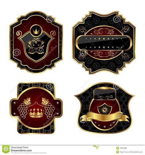 Set Perhiasan Black Gold set black gold framed labels vector illustration cartoondealer 18800630
