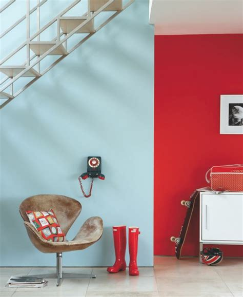 Flur Gestalten Rot by Rote Wand 50 Ideen Mit Wandfarbe Rot