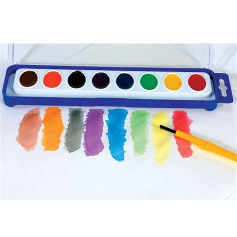 water color paints 8 color washable watercolor paint trays 12 trays