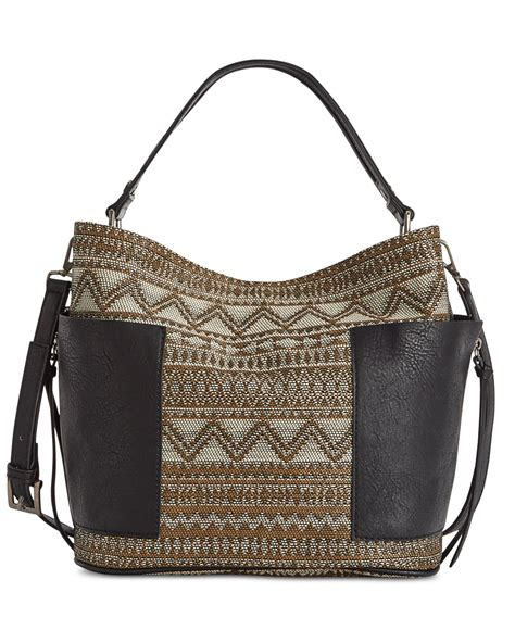 steve madden bkoltt hobo bag in brown tribal print lyst