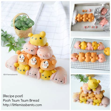 recipe pooh tsum tsum bread miss bento