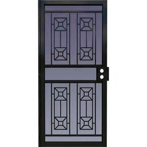 Larson matrix black steel surface mount single security door common