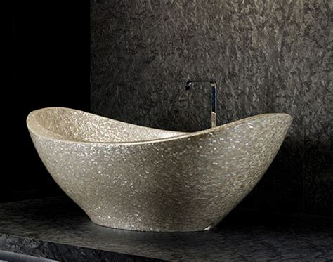 pearl bathtubs mother of pearl decor by antolini luigi shellstone collection