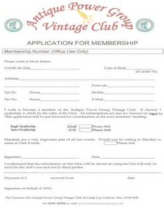 club membership application form template membership form template pictures to pin on
