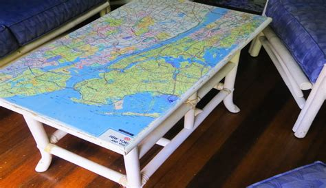 Decoupage Maps On Furniture - how to decoupage furniture with a map