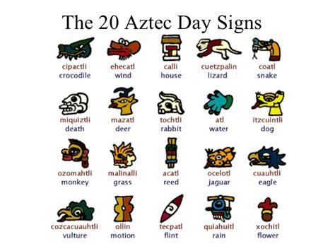 Aztec Calendar Symbols Aztec Inca Civilizations Mayan And Other Calendars