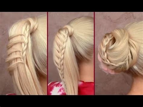 make cute everyday hairstyles simple ponytails ponytail braided ponytail everyday hairstyle cute easy bun updo for