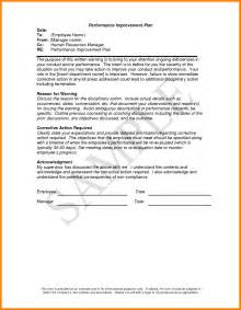 Performance Plan Template by 4 Employee Performance Improvement Plan Template Mail
