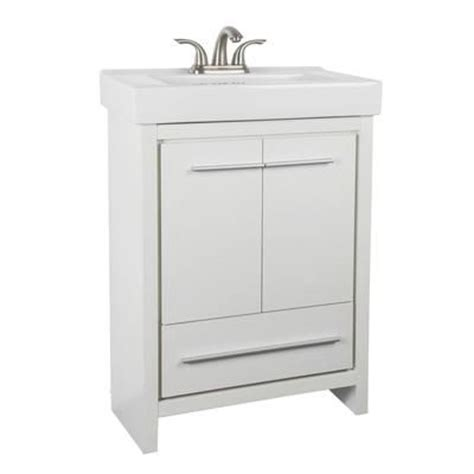 Home Depot Bathroom Vanities Canada by Glacier Bay Romali 24 Inch Vanity With Ceramic Sink Yg600w N Home Depot Canada Bathroom