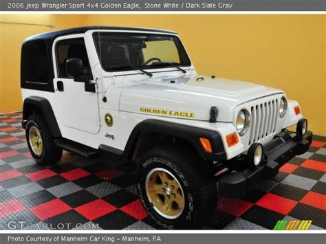 2006 jeep golden stone white 2006 jeep wrangler sport 4x4 golden eagle