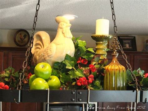 rustiques pot rack ideas 10 best images about decorating a pot rack on pinterest