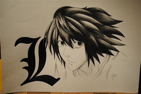 L Drawing Note by L Lawliet Note By Tingilyaven On Deviantart