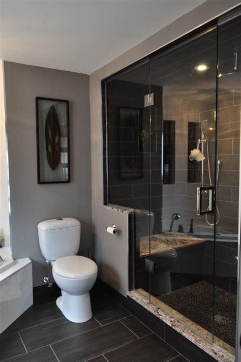 Dark Grey Tile Bathroom » New Home Design