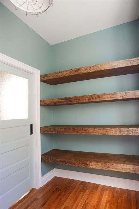 Diy Closet Shelves Wood by Diy Floating Wood Shelves In The Workshop Via Yellow