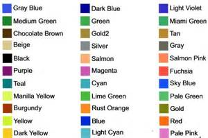 list of basic colors color printed decals and stickers