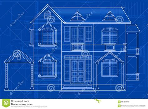 blueprint of a building blueprint of building stock vector image 66757372